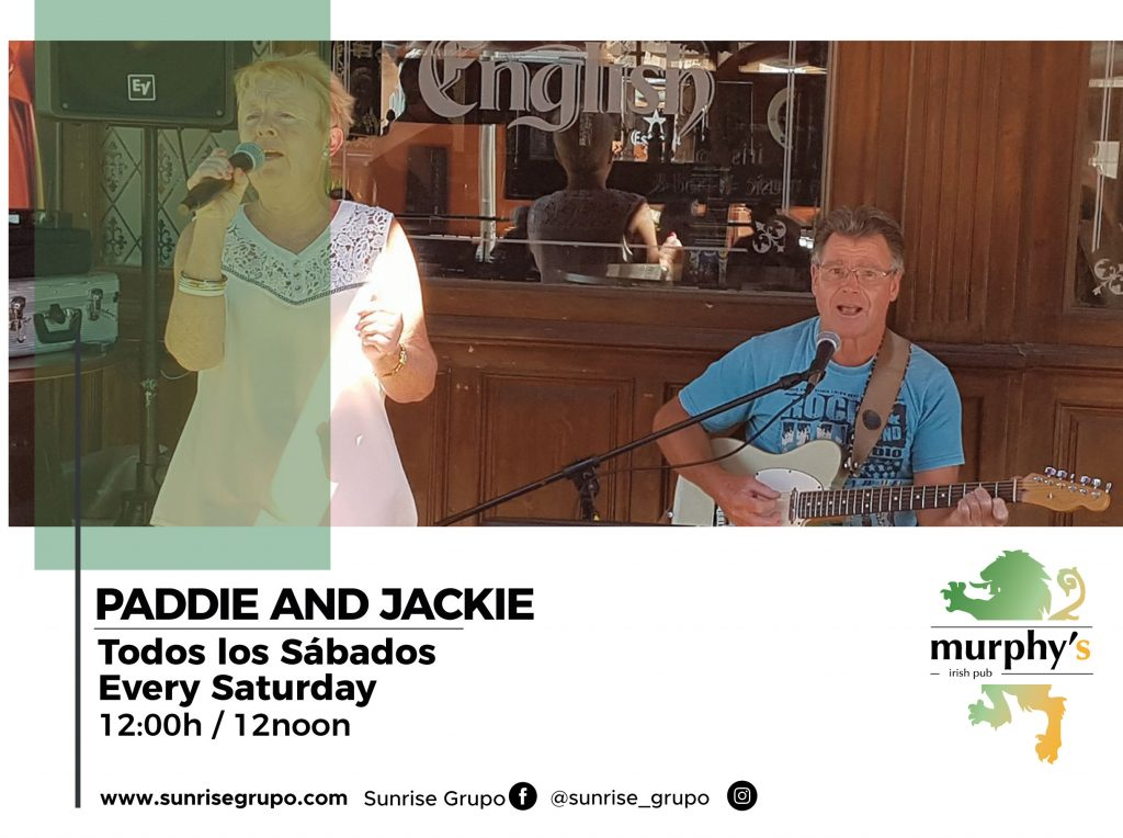 paddie and jackie live music every saturday